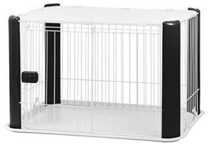 Iris Ohyama Pet Circle CLS-960 cage d'extérieur,enclos ,chenil et parc pour chien, plastique, noir, 7,3 kg, 92 x 63 x 60 cm
