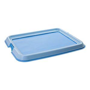 Iris Ohyama, plateau de formation pour chien / education à la propreté – Pet Tray – FT-650, plastique, bleue, taille medium, 65 x 55 x 4 cm