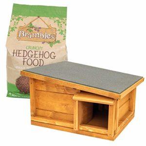 Kit de démarrage pour maison de hérisson extérieur | Maison de hérisson anti-prédateur | Brambles Crunchy Hérisson – 2 kg