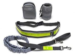 Laisse mains libres pour chien, taille réglable avec étui, ceinture pour chien Bungee de Canicross pour la marche, le jogging, laisse de randonnée