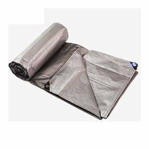 LICCC Imperméable Bâches Bâche épaisse bâche en Plastique Toile de Tente auvent Pare-Soleil Toile de Protection Solaire Voiture bâche Couleur Bande (Argent) (Color : 1, Size : 5 Meters X6 Meters)