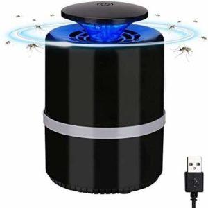 POIU Mosquito Lamp Killer, USB piège électronique Anti-moustiques, LED lumière de Nuit, insectifuge, utilisé dans Chambre Bureau, Camping Noir (Color : A)