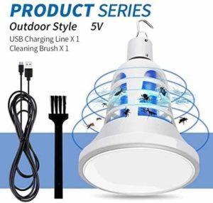 POIU USB Ampoule Insecticide de Croissance des Plantes, Illuminant Tueur de Moustique Deux-en-Un Moustique Lampe Répulsif, Usagé LED intérieure et extérieure Tueur de Moustique (Color : B)