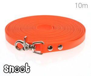 SNOOT 10m Laisse de Dressage – 16mm de Large, Orange, Laisse pour Chien, Laisse de Course, Laisse de Traction | résistante, imperméable et résistante à la saleté avec Un Mousqueton