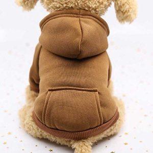 Vêtements Chauds D'Hiver, Vêtements De Chien De Hoodies, Vêtements De Chien De Coton D'Animal Familier XS/Marron