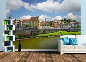 Vue du pont de marché à Bernbourg, Size XL | 465 x 310 cm