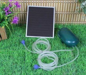 Wehmann Pompe à oxygène solaire pour l'aération des étangs Nuit et jour