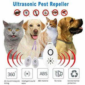 YRUFE Répulsif Ultrasonique Portable, Répétitions Ultrasoniques 3 en 1, Répulsif Extérieur pour La Prévention des Parasites pour Les Araignées Moustiques (4PCS)