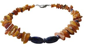 Amber Pet Line Collier pour chien–Collier Ambre Lapis Lazuli 43cm 00508.11dk Samoyède
