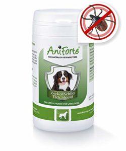 AniForte Tique Bouclier – Anti Tiques 60 Capsules pour Gros Chiens, Anti-parasitaire, Naturel, Tuer, Prévenir et Contrôler