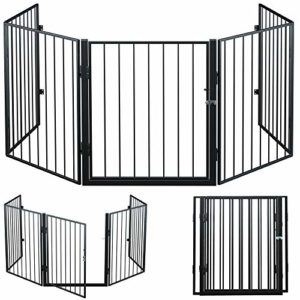 Barrière de sécurité 310 cm Grille protection pour animaux Cheminée escalier