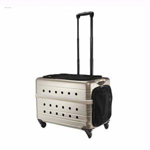 Chats pour Animaux de Compagnie Castle Four Wheel Cat Bag Cat Bag Dog Bag Pet Bag – Champagne Gold