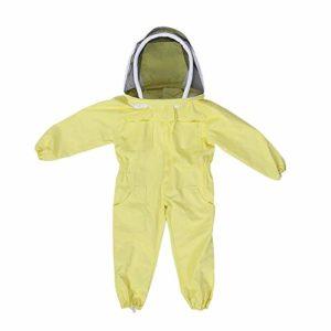 Costume de Protection Professionnel Apiculture Enfant Bee Farm Visitor Protège Combinaison(L)