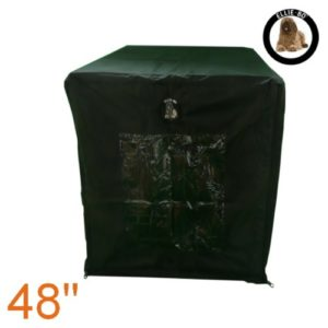 Ellie-Bo Housse imperméable Cage pour chien Noir Taille XXL 121,9 cm