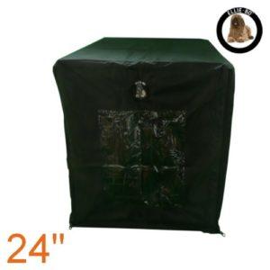 Ellie-Bo Housse imperméable pour cage à chien Noir Taille S 61 cm