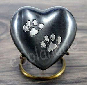 eSplanade Urne commémorative pour urnes funéraires | Urne en laiton | Urne en métal | Urne funéraire | Souvenirs Souvenirs | Urne chat pour chien (Gris avec support)