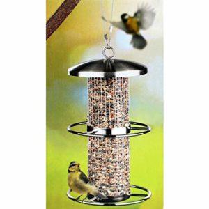 Étanche en acier inoxydable pour oiseaux à suspendre 60129 Hauteur : 27,5 CM