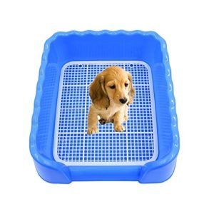 FeiNianJSh PP Wave Style Indoor Pet Training Tray Serviette pour Toilettes Pet Potty Toilet Mesh, Taille : 43.0 x 43.0 x 15.0 cm