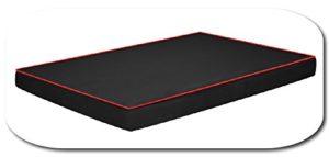 Fortisline Coussin pour Chien O'AHU Tapis Matelas orthopédique XL 120x80x8 cm Noir/Rouge W419_01
