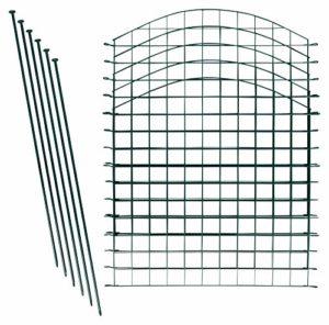 Lot de clôtures d'étangs/lot Complet composé de différentes unités de Conditionnement et de différentes Formes (10x Arc supérieur, Vert)