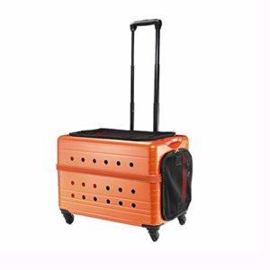 Pet Moving Castle Four Trolley Trolley Cat Bag Sac pour Chien Sac pour Animal de Compagnie – Orange Glamour
