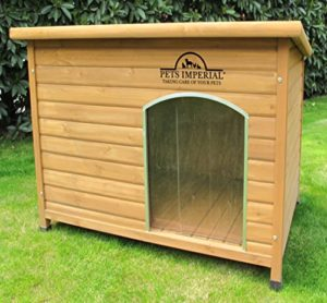 Pets Imperial® Norfolk Chenil Isolé En Bois Grande Taille Chien Avec Plancher Amovible Pour Un Nettoyage Facile B