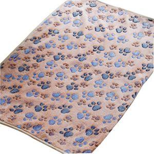 Qifumaer Couverture colorée pour Animaux de Compagnie Doux Couverture de Flanelle pour Chien Chiot Chat 40 * 60cm