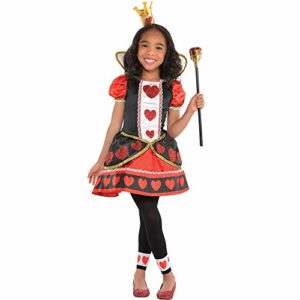 Reine de coeur Déguisement Fille Conte De Fée Livre Day Enfants Costume Neuf – Multicolore, 8-10 Ans