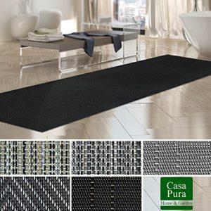 Tapis intérieur extérieur casa pura® résistant, antisalissure, impermeable et antidérapant | nombreux design/tailles | Catania – 60x250cm