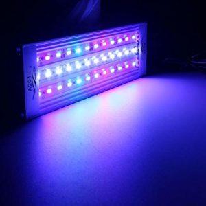Ukplug, 33–: 20/25/30/31/35/36/40/45/50/60cm LED sous-marin lumière RVB 5730SMD aquatique Coral Aquarium Sea Reef Fish Tank US/EU/UK/