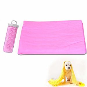 Beito Serviette Pet Super Absorbant PVA Bain Chamois Chiens Chats Anti-bactérien Eco-Friendly et Facile à Nettoyer Le Moyen Le Plus Rapide de sécher Votre Animal de Compagnie-Rose