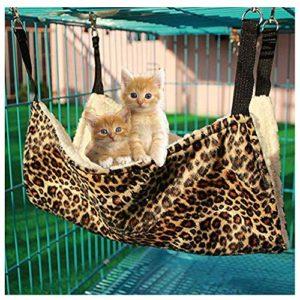 Bello Luna Hamac Cat Tapis de lit Suspendu à imprimé léopard pour Chien, Chat et Petit Animal