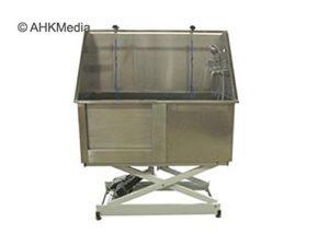 Chien Baignoire en acier inoxydable avec douche électrique