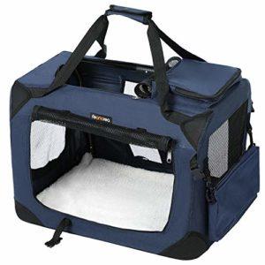 FEANDREA Cage de Transport Caisse Sac de Transport Pliable pour Chien Animal Domestique Bleu foncé XL 81 x 58 x 58 cm PDC80Z