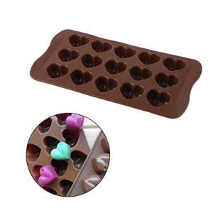 Gugutogo Silicone Ice-Cube Chocolat Fondant Gâteau Plateau De Gelée Pan Loving Heart Maker Moule Moule De Cuisine Outils De Gâteau De Cuisson (Couleur: Chocolat)