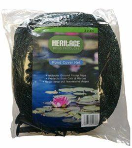 Heritage Pet Products – Filet de protection de bassin, protège contre les chats, les hérons, les feuilles