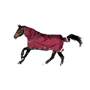 Horseware Rambo Duo Tapis De Participation 125cm Navy/Baby Blue & Brown