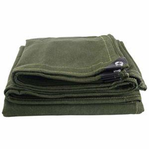 JLZS-Tarpaulin Coton épaississement extérieur Vieux Toile Sunscreen Sunscreen Bâche imperméable résistante à l'usure de Camion de Tissu de Tissu (Couleur : Green, Taille : 4 * 8)
