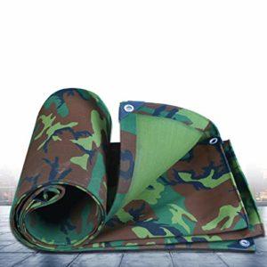 JLZS-Tarpaulin Toile de Camouflage épais Tissu imperméable bâche imperméable bâche de Protection Solaire bâche bâche bâche (Couleur : Camouflage, Taille : 2 * 2)