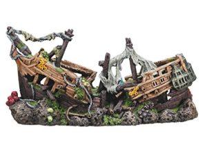 Nobby Navire de Guerre Décoration pour Aquarium 57 x 26 x 29 cm Taille XXL