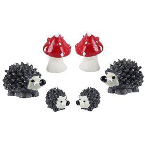 2Sets Toadstool miniature maison de poupée jardin Art Bonsai Jouet Décoration de Paysage Micro