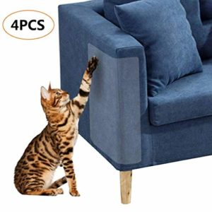 4pcs Scratch Protector, arrête Cat Scratch Protège Pas de Broches, Protection Meubles à partir de l'arbre à Chat Transparente Souple à Chat Chats Meubles Defender, 18,5x 5,9PO