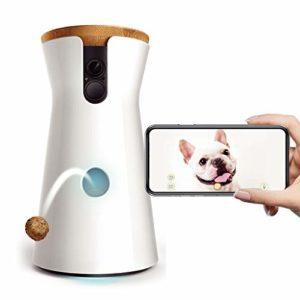 AA pet camera Dog Caméra : Lanceur de friandises, caméra Wi-FI HD et Audio bidirectionnel