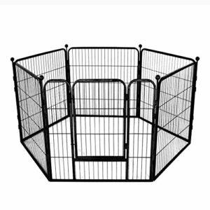 AA-GWCWWWL Clôture pour Animaux de Compagnie Chien clôture clôture de sécurité Chien clôture Grande et Moyenne Chien clôture d'isolement/Noir