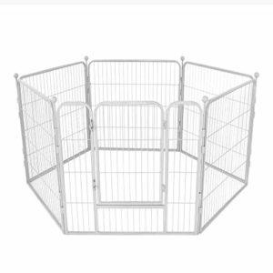 AA-GWCWWWL Clôture pour Animaux de Compagnie Chien clôture clôture de sécurité clôture de Chien Grande et Moyenne clôture d'isolement de Chien/Blanc
