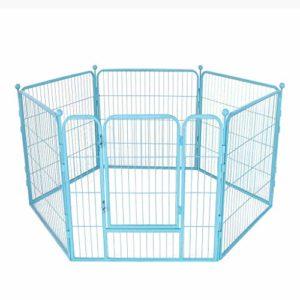 AA-GWCWWWL Clôture pour Animaux de Compagnie clôture pour Chiens clôture de sécurité clôture pour Chiens Grande et Moyenne clôture clôture d'isolement pour Chien/Bleu