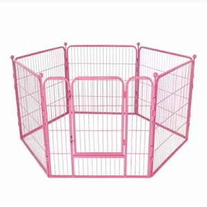 AA-GWCWWWL Clôture pour Animaux de Compagnie clôture pour Chiens clôture de sécurité clôture pour Chiens Grande et Moyenne clôture clôture pour Chien/Rose