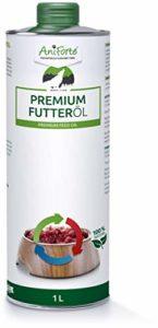 AniForte Huile de Barf Premium 1 Litre pour Chiens, Avec de l'huile de saumon et de l'huile de lin, soin complet de votre chien