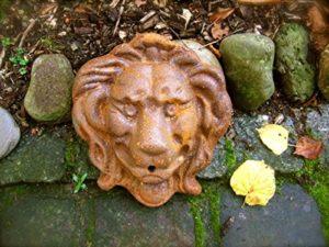 Antikas Eau avec tête de lion Gargouille Lion pour fontaine murale Brunnen Accessoires speier