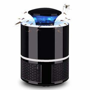 Be82aene LED Mosquito Trap Lamp feu dirigé Les piège LED Lampe de Moustique éradiquer Mouches USB éradiquer USB 5W feu meurtrier (Couleur : Noir)